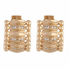 Gold colour Bali shape smart carving Earring