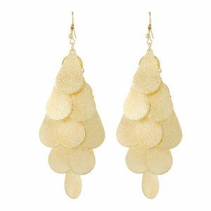 Gold colour Bunch of drops shape Smartly Crafted Earring