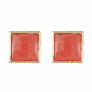 Gold colour Square shape Stone Studded Earring