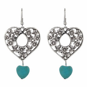 Silver colour Heart shape Smartly Crafted Earring