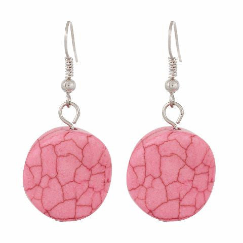 Pink colour Round shape Smartly Crafted Earring