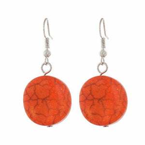 Red colour Round shape Smartly Crafted Earring