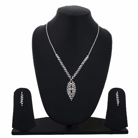 Silver colour Traditional design Necklace Set