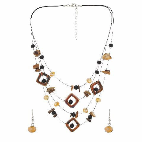 Brown colour Western design Necklace Set