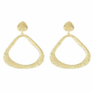 Gold colour Drop shaped shape Smarty Crafted Earring