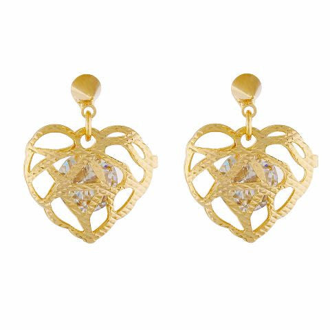 Gold colour Heart shape Smarty Crafted Earring