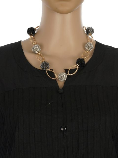 Grey and Gold colour Western design Necklace