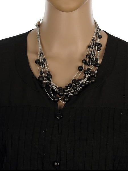 Black and Silver colour Western design Necklace