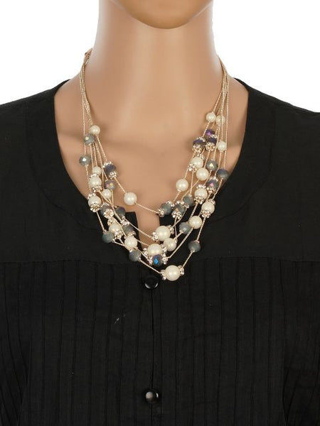 Cream and Grey colour Western design Necklace