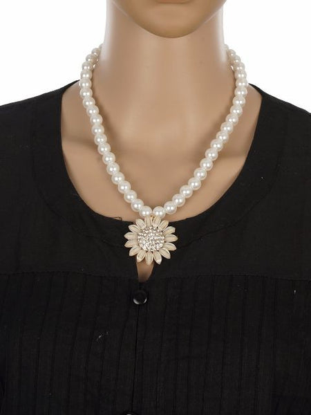 White colour Traditional design Necklace