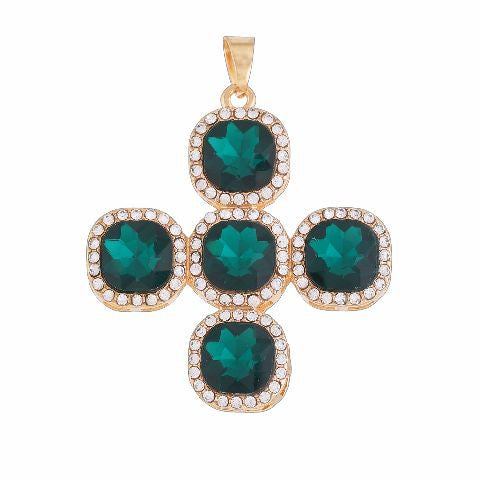 Gold and Green colour Traditional design Pleasing Pendant
