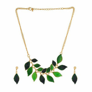 Green colour Western design Necklace Set
