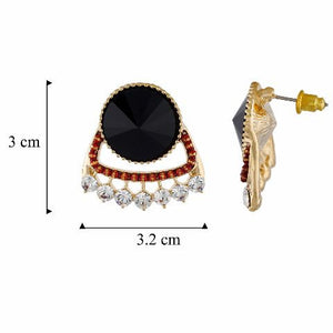 Multi colour round shape Stone Studded Earring