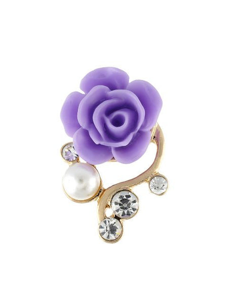 Purple colour Ceramic Flower shape Earring