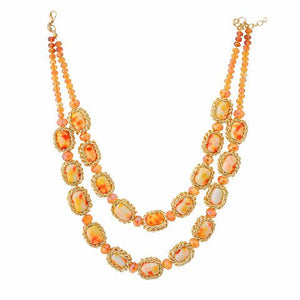 Beige colour Western design Necklace Set