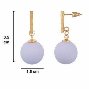 Purple colour Hanging Sphere shape Smartly Crafted Earring