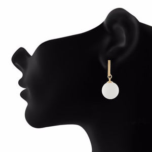 White colour Hanging Sphere shape Smartly Crafted Earring