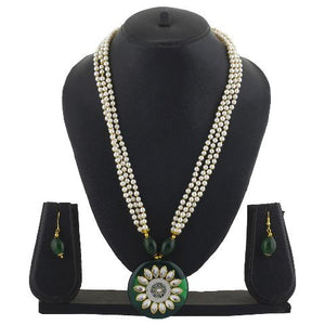 White colour Indo Western design Necklace Set