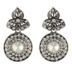 Load image into Gallery viewer, Stylish Silver Colour Round Shape Earring for Girls and Women
