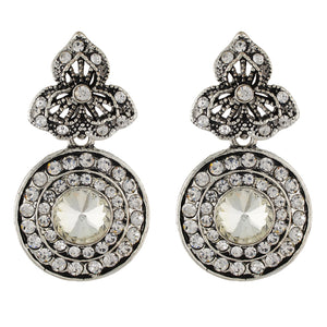 Stylish Silver Colour Round Shape Earring for Girls and Women