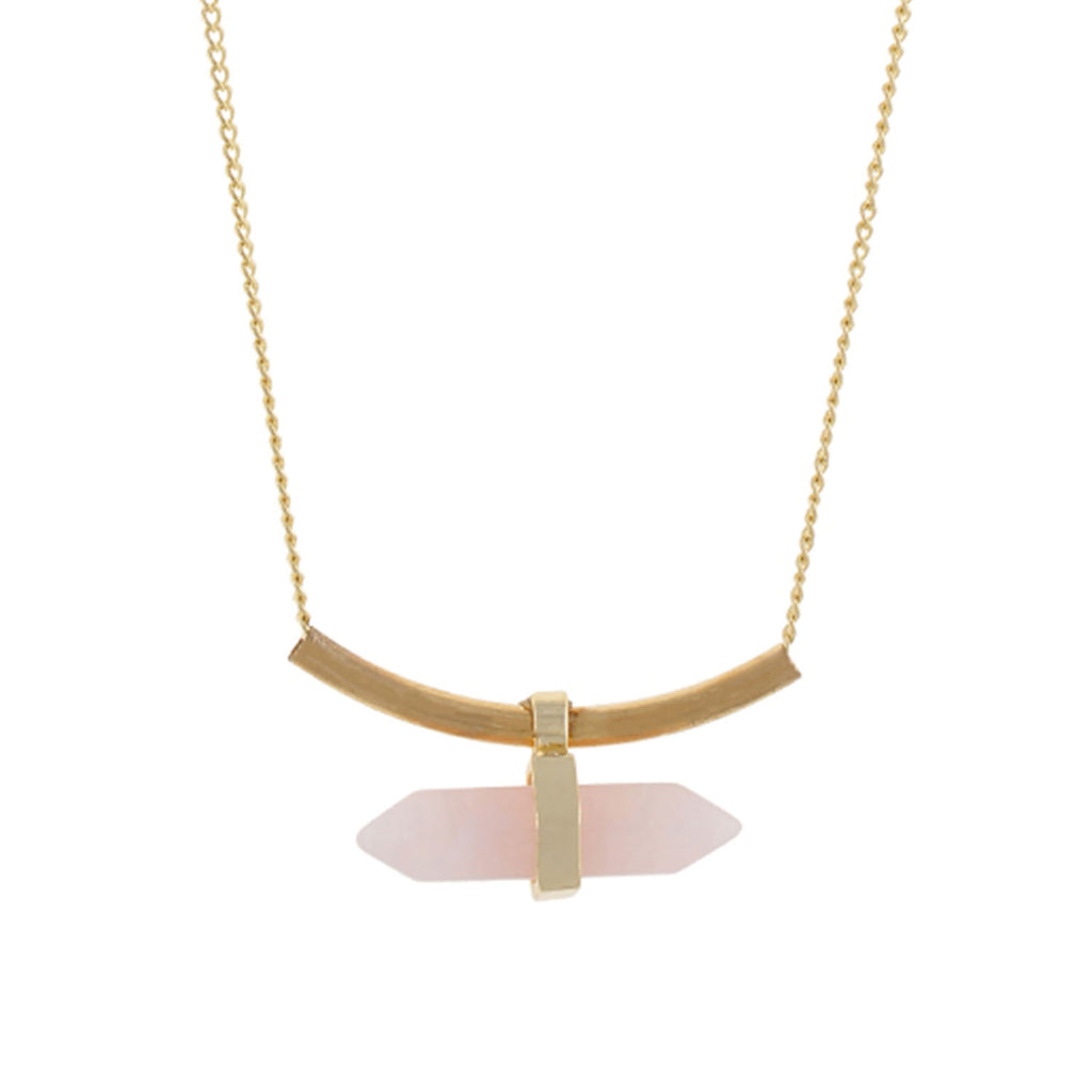 Gold and Cream colour Pencil design Necklace for girls and women