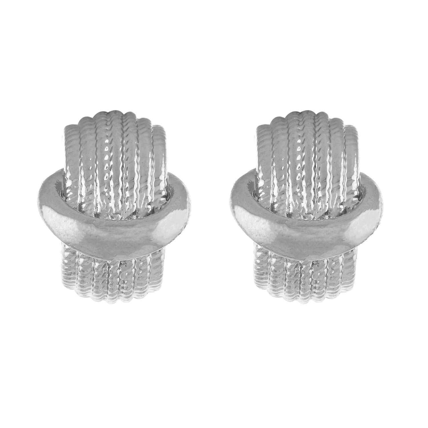 Silver colour Oval design  Studs for girls and women