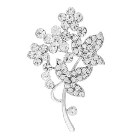 Outstanding Silver Colour Bouquet Shape Alloy Brooch for Men and Women