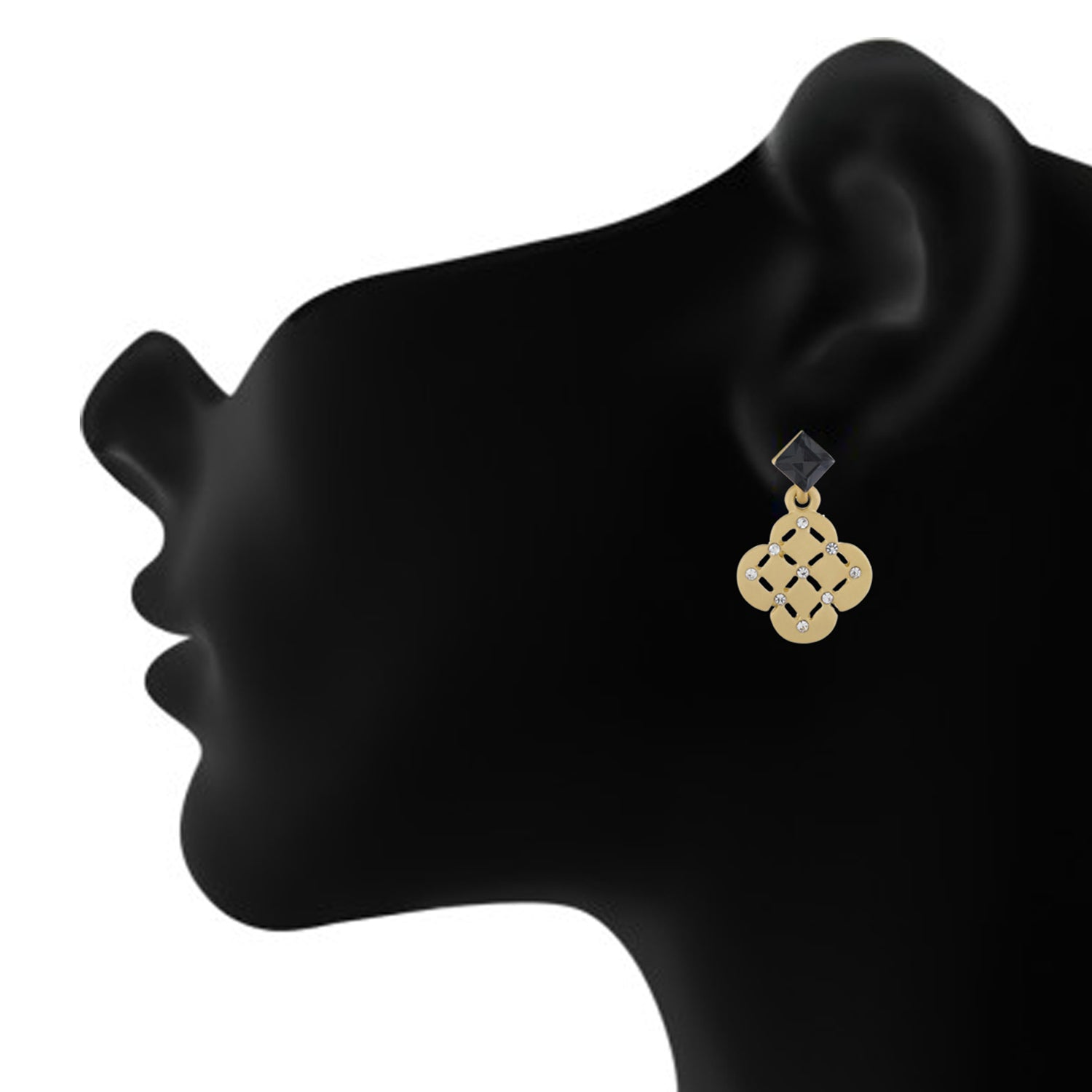 Gold colour Geometrical Design Hanging Earrings for Girls and Women