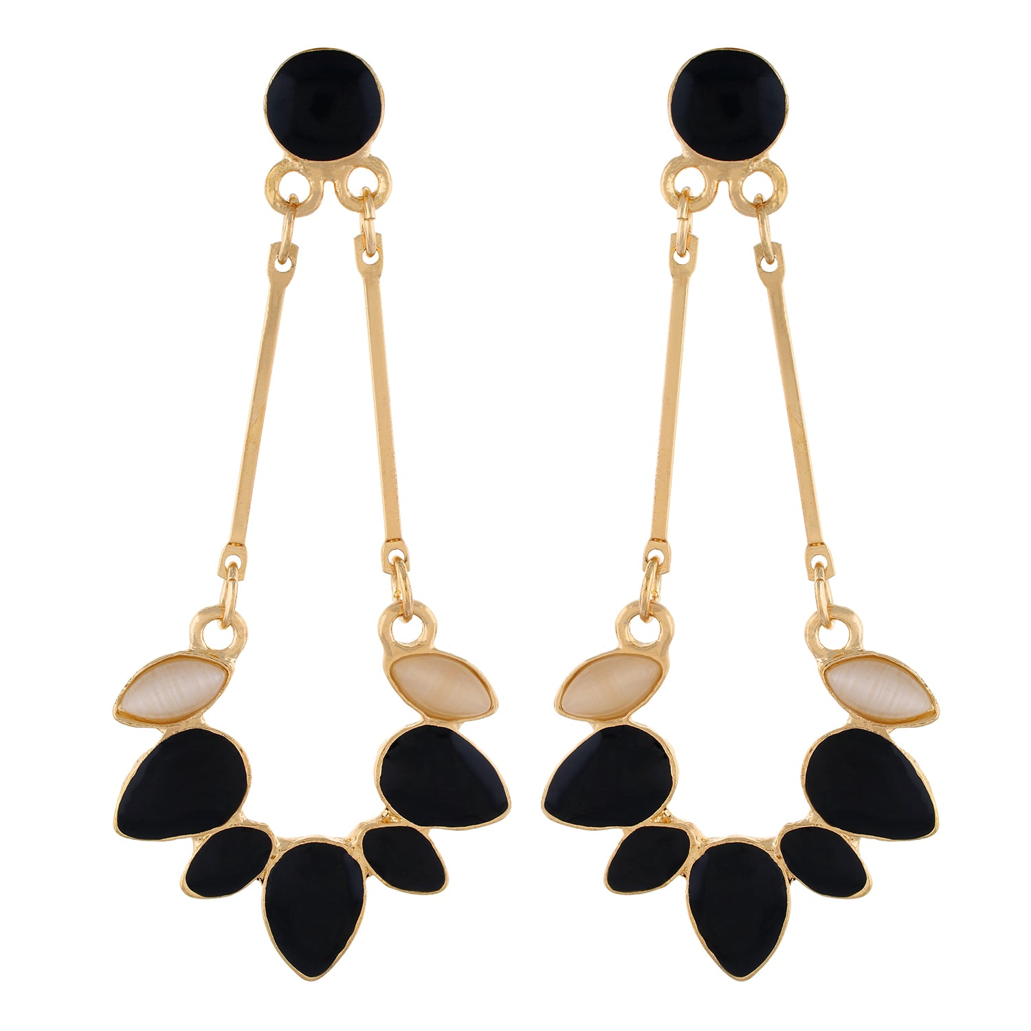Black colour Drop Design Hanging Earrings for Girls and Women