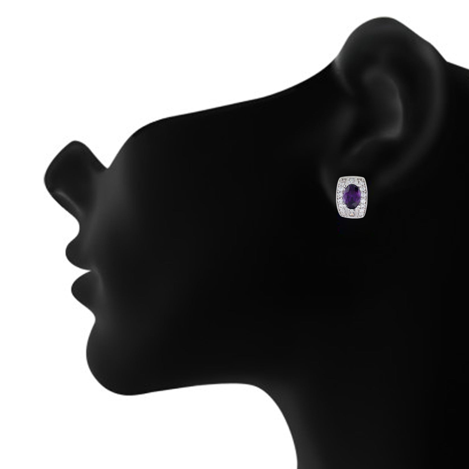 Breathtaking Purple and Silver Colour Small Ear Bali's for Girls and Women