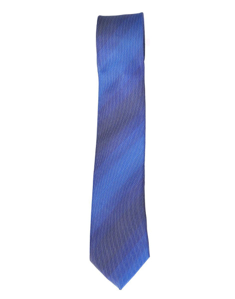 Formal Blue Colour Self Stripes Ties for Men