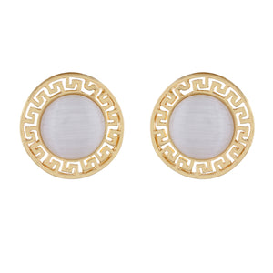 Gold colour Round design  Studs for girls and women