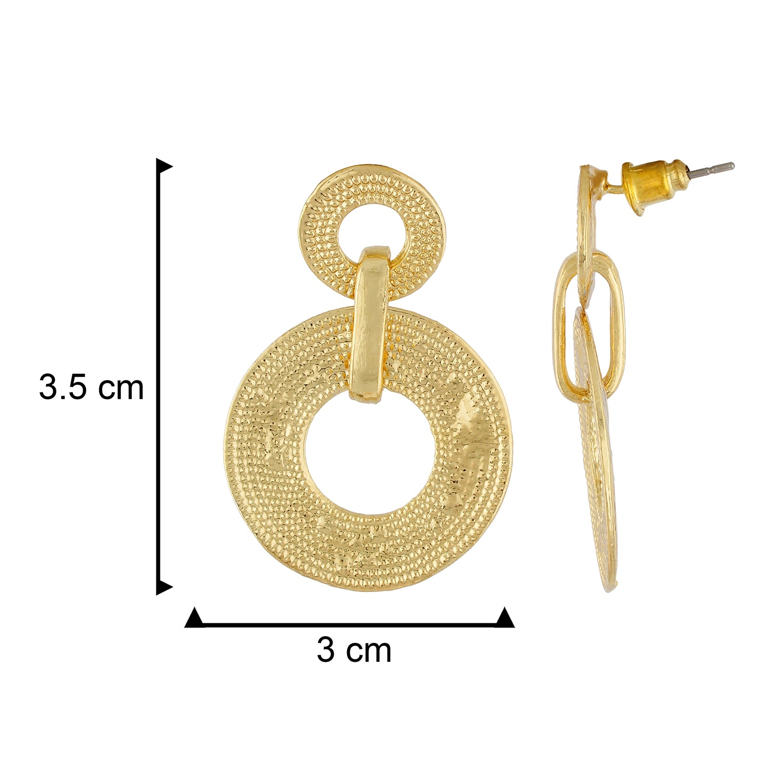 Gorgeous Gold Colour Round Shape Earring for Girls and Women