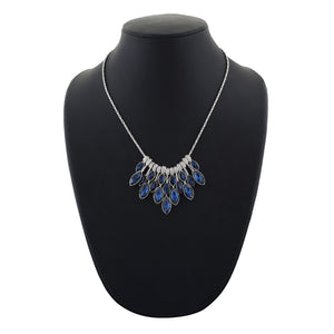 Silver and Blue colour Drop design  for girls and women