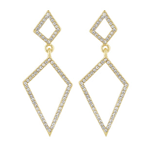 Dazzling Gold Colour Geometrical Design Earring for Girls and Women