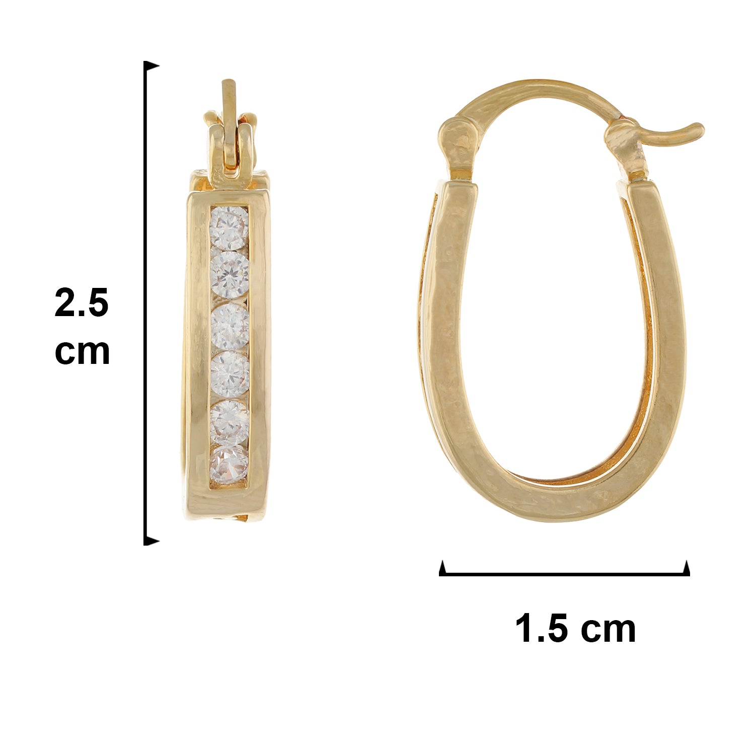 Gold colour Oval design Hoop for girls and women