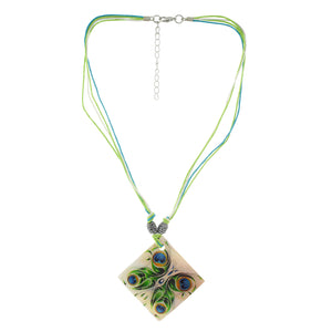 Green colour Rhombus design Necklace Set for girls and women