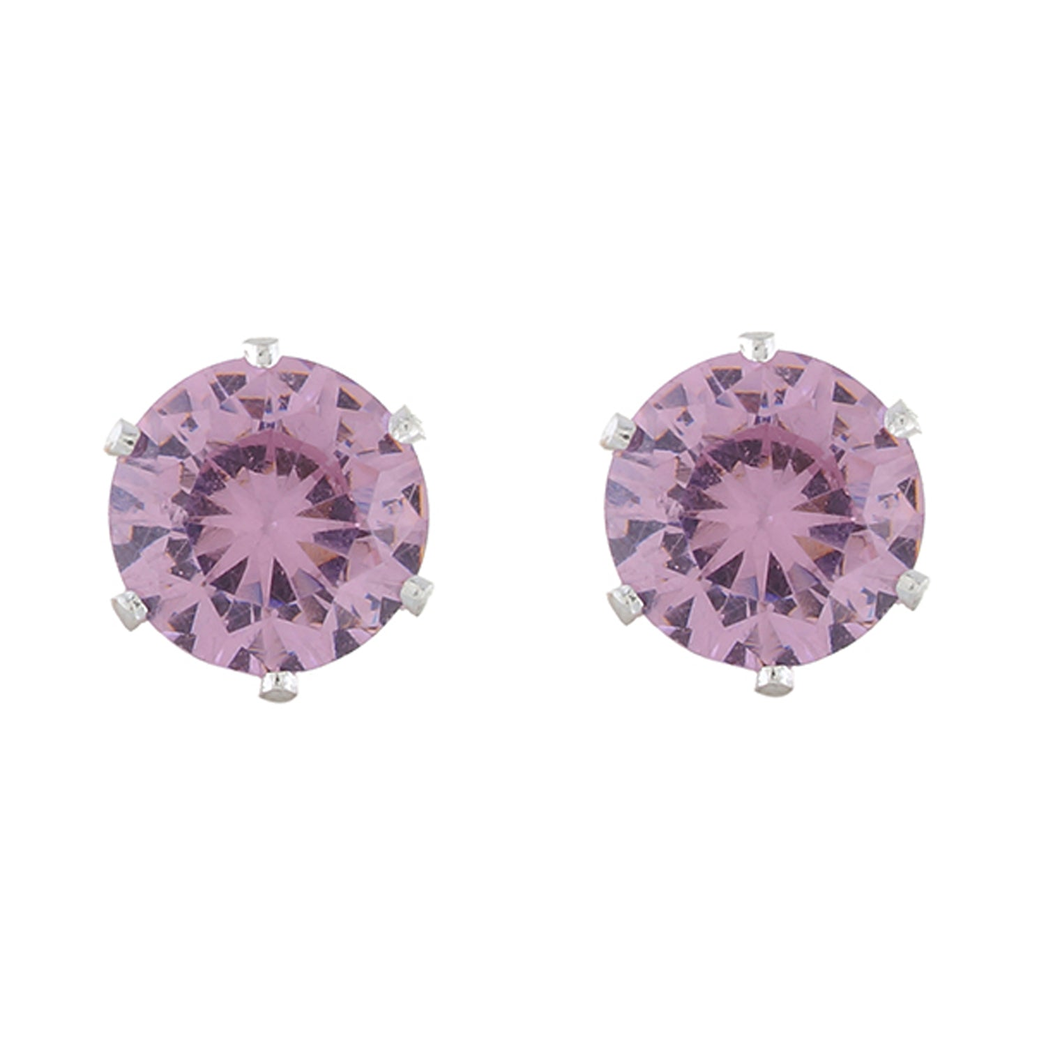 Pink colour Round design  Studs for girls and women