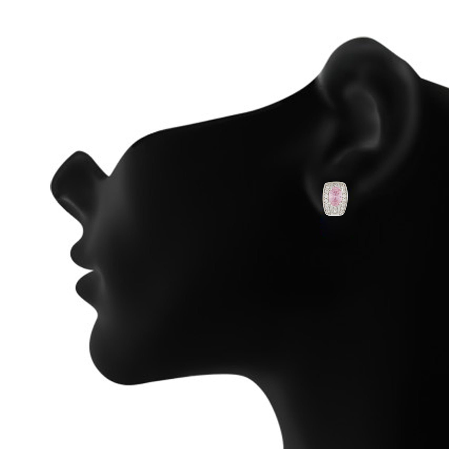 Breathtaking Pink and Silver Colour Small Ear Bali's for Girls and Women