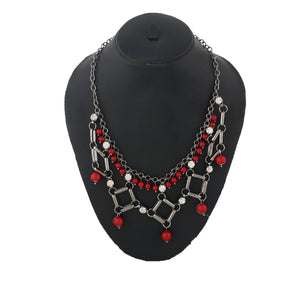 Colour Geometrical Design Necklace for Girls and Womens