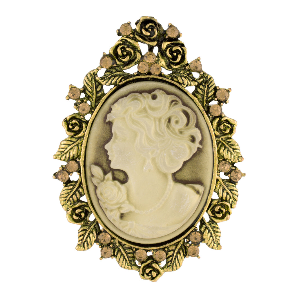 Outstanding Gold Colour Queen Alloy Brooch for Men and Women