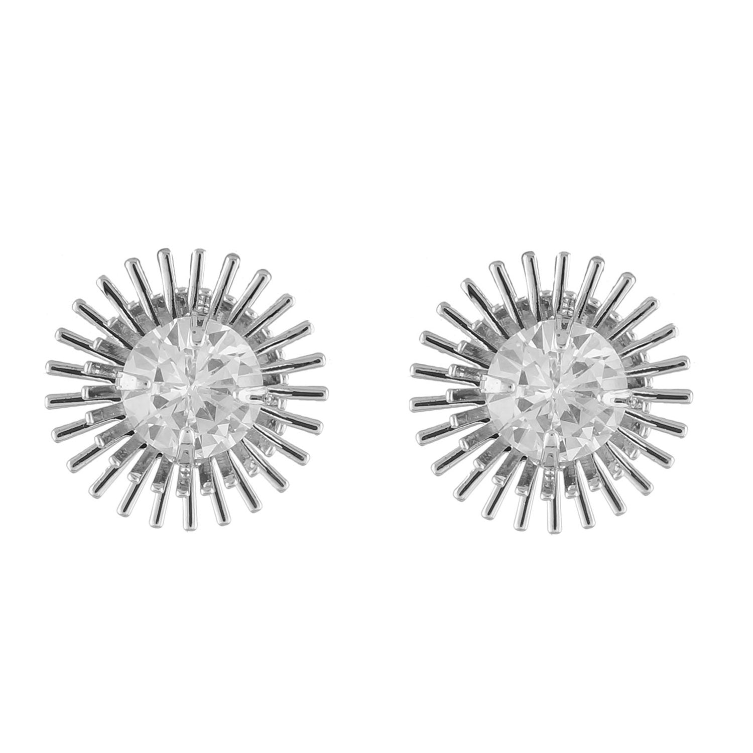 Chic and Trendy Silver Colour Round Shape Earring for Girls and Women