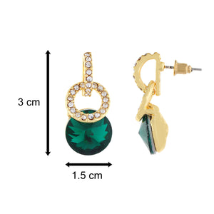 Gold and Green colour Geometrical design Hanging for girls and women