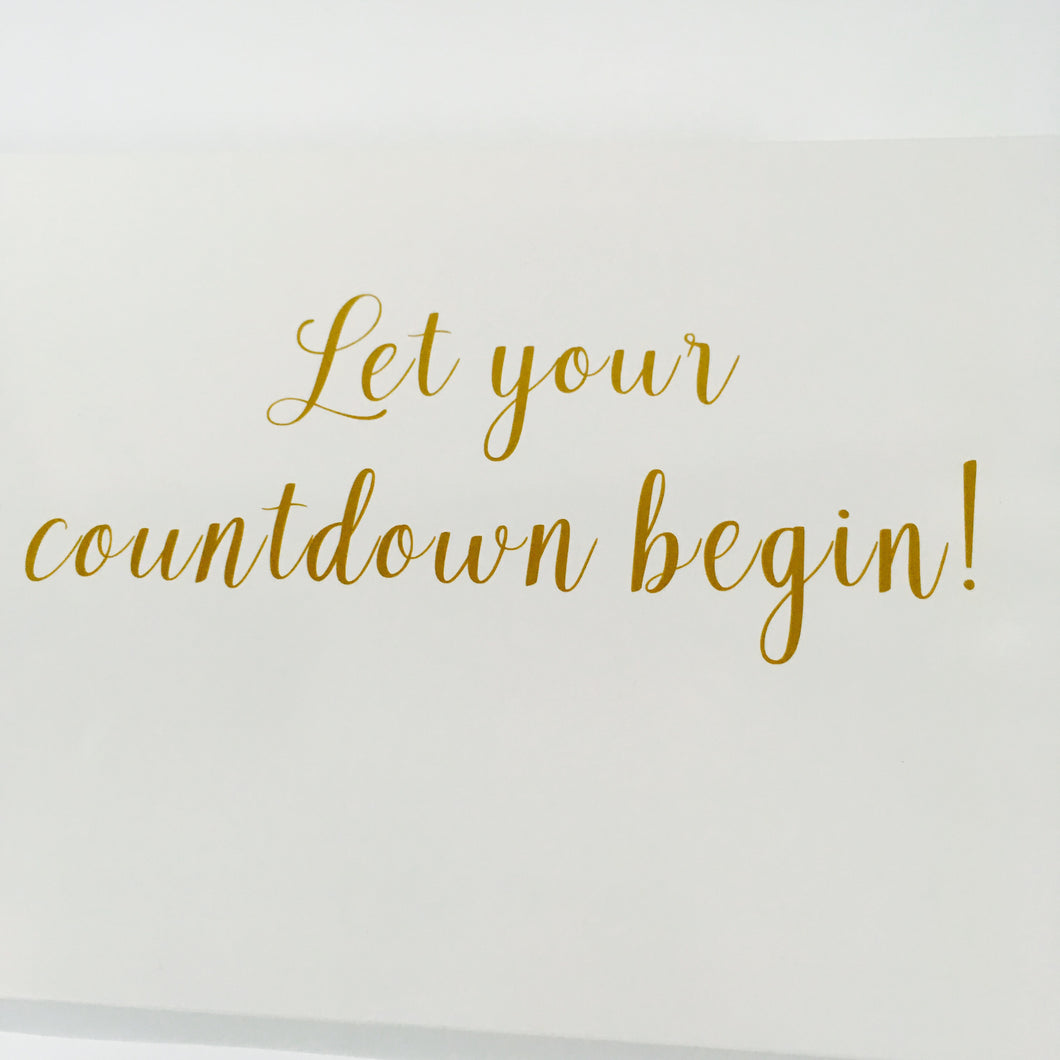 Wedding Countdown Gifts For Bride