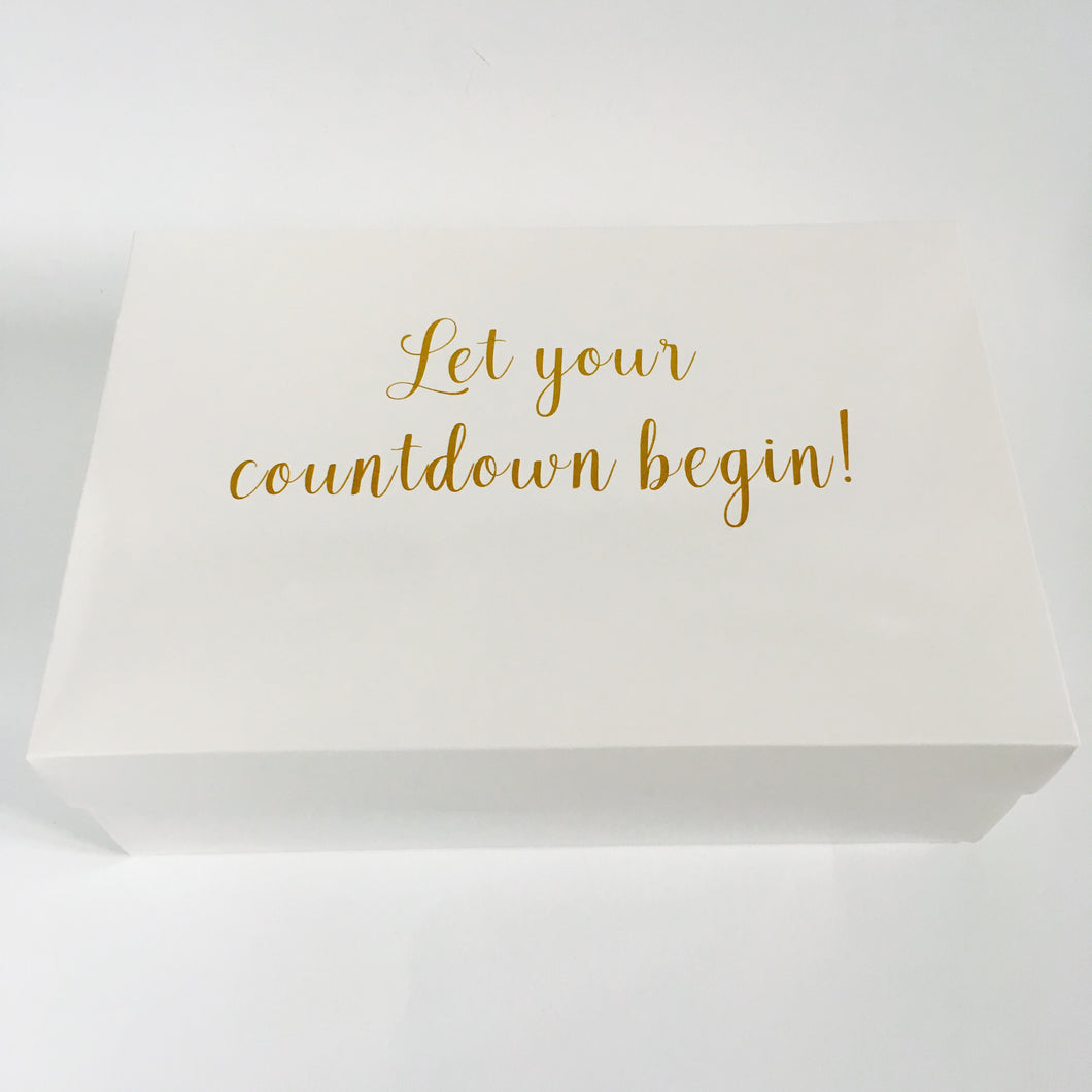 Wedding Countdown Gifts For Bride: Bride & Groom Wedding Countdown Box