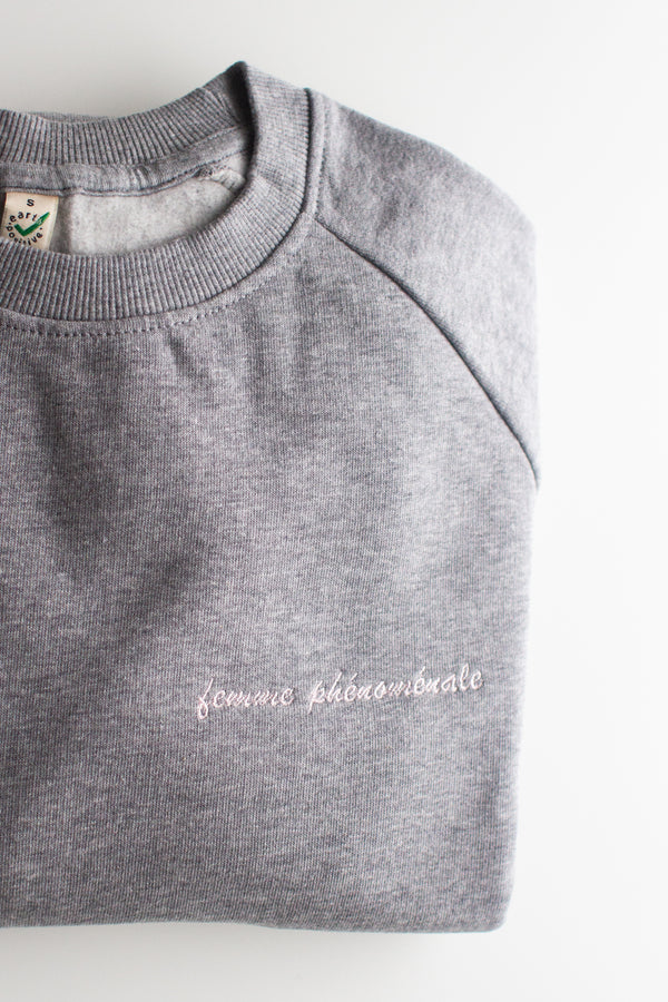 SAMPLE SALE Femme Phénoménale embroidered organic cotton jumper