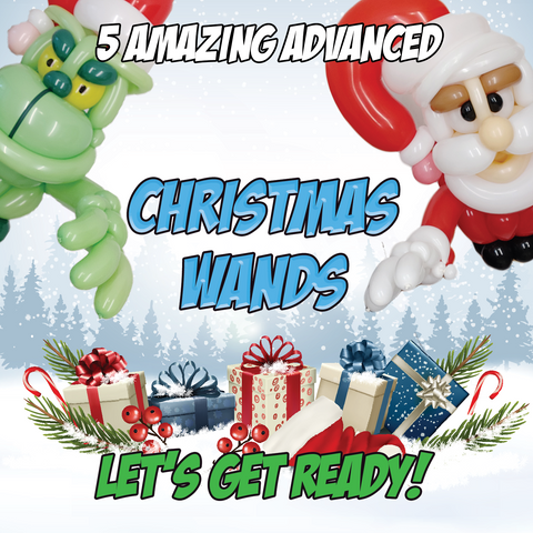 CHRISTMAS CHARACTER WANDS