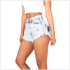 Vintage Tassel Ripped Loose High Waist Shorts