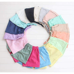 Candy Color Elastic Shorts - FluxClothings