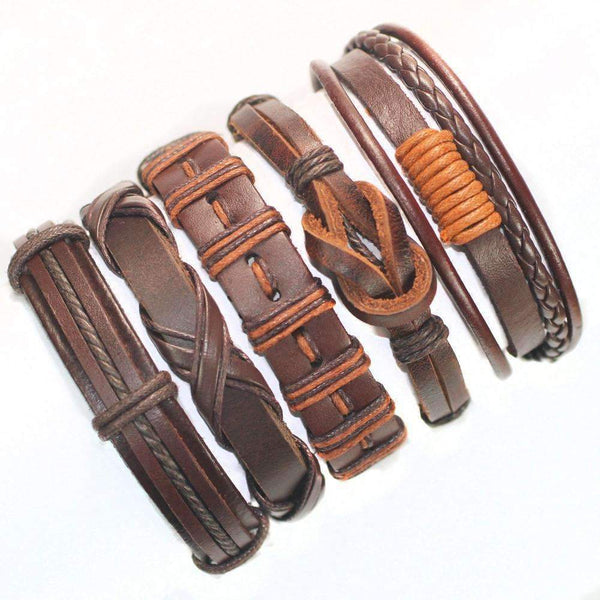 FluxClothings: 5pcs leather bracelet